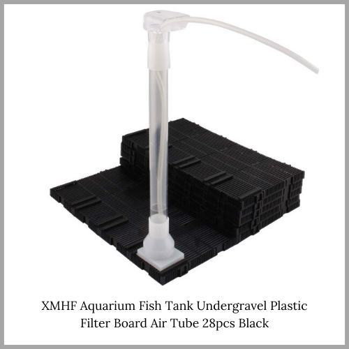 XMHF-Aquarium-Fish-Tank-Undergravel-Plastic-Filter-Board-Air-Tube-28pcs-Black