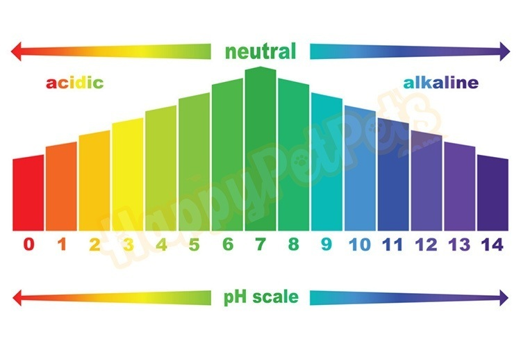 pH color chart for aquarium